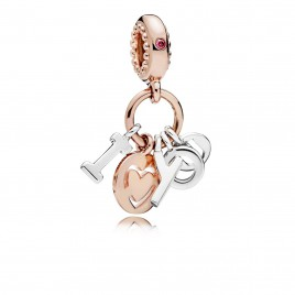 Pandora I Love You rose charm 786596CZR